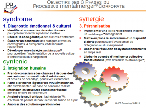 Objectifs des 3 phases
